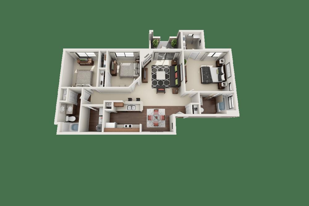 3-bedroom apartment in Albuquerque, New Mexico
