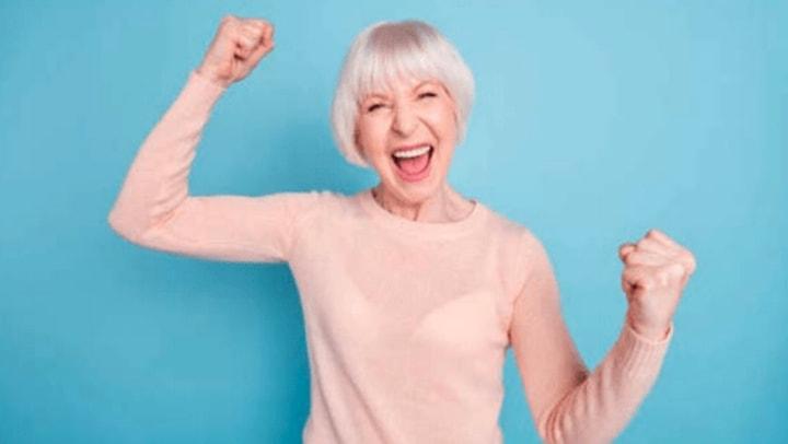 Woman Cheering