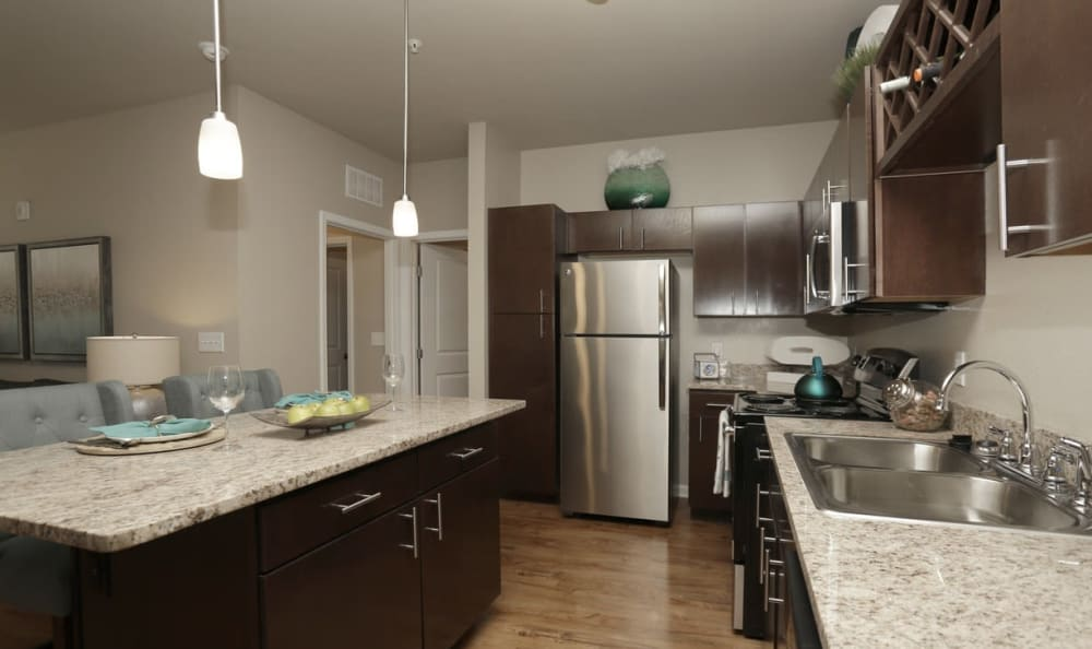 Upgraded kitchen at Springs at Laurens Road in Greenville