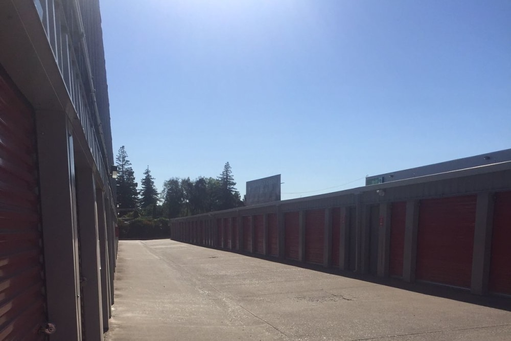 Units at Trojan Storage in Sacramento, California
