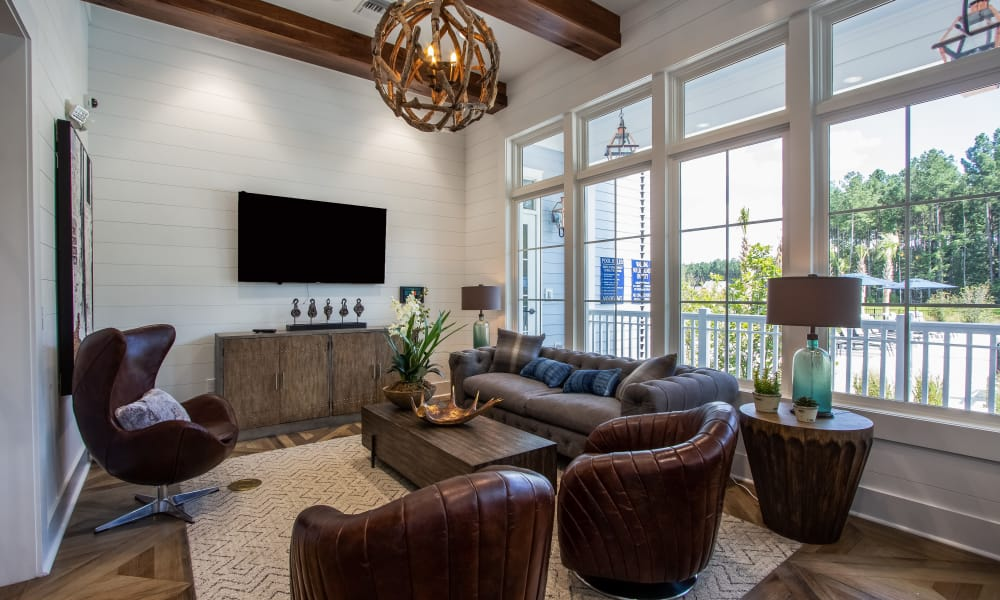 Alta Brighton Park offers a modern television room in Summerville, South Carolina