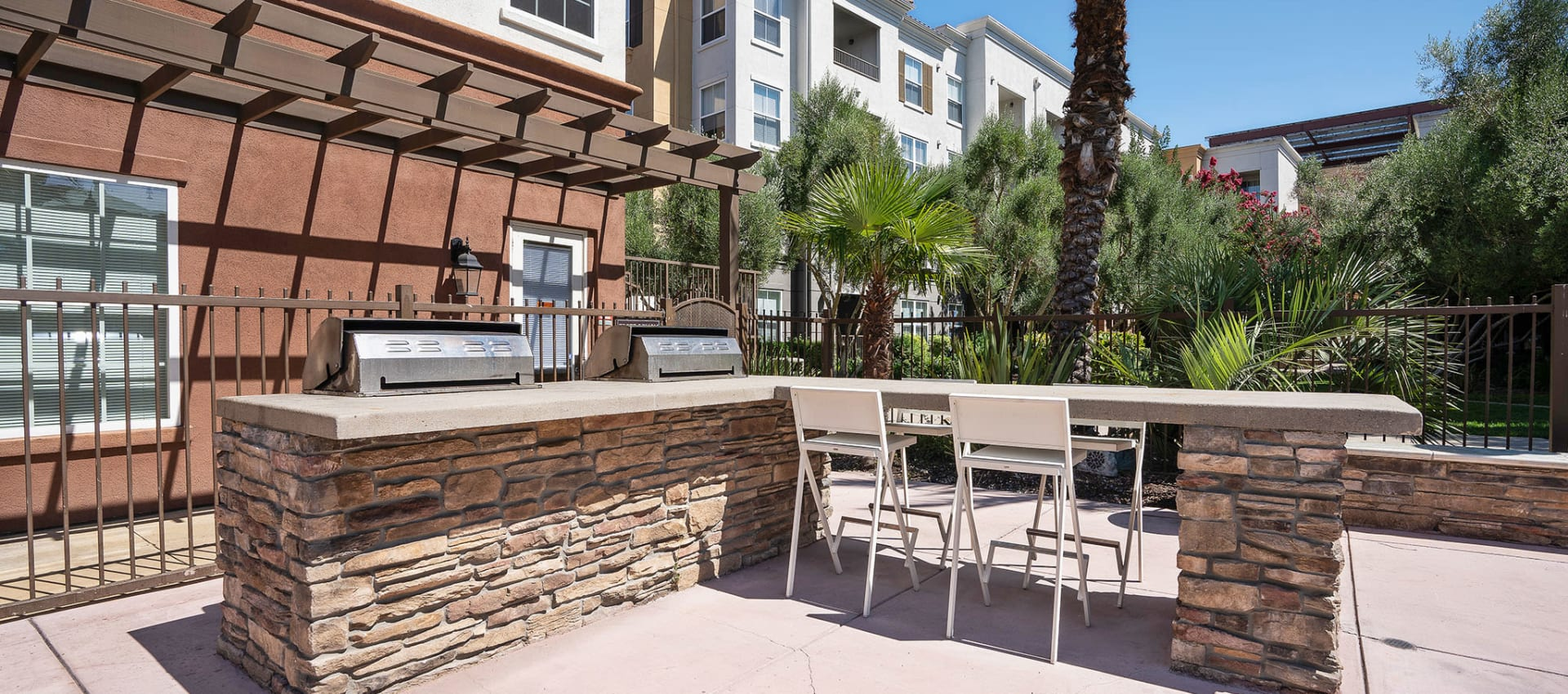 Outdoor Grilling Area at Park Central in Concord, California