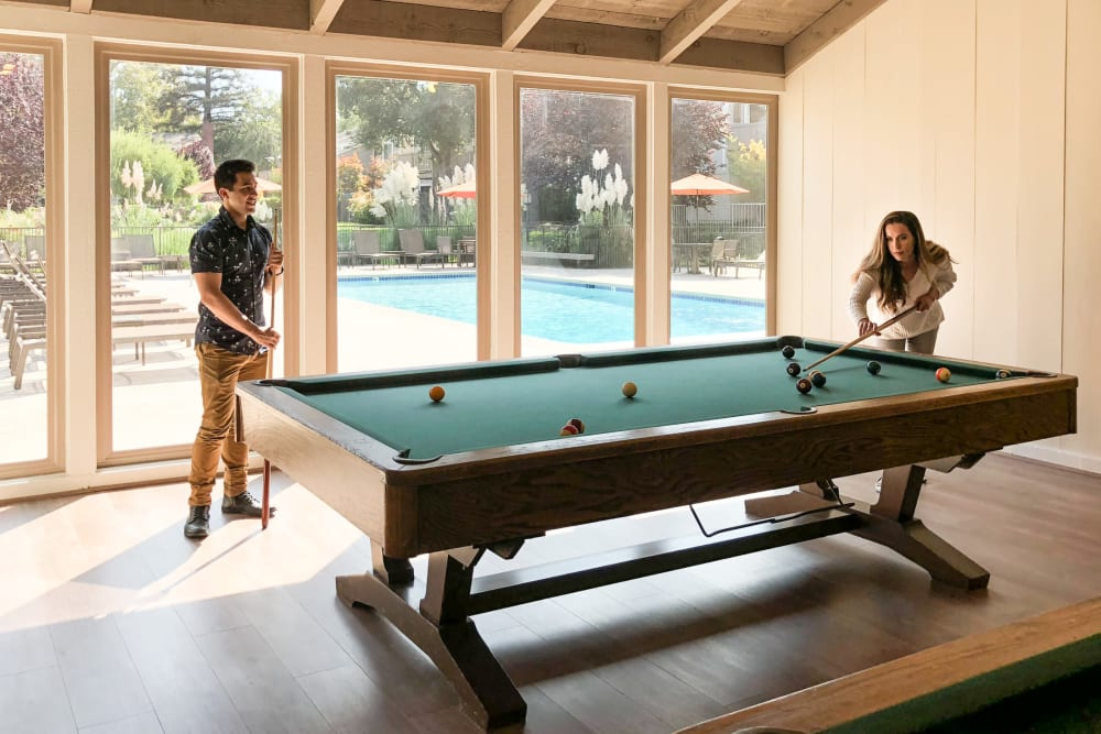 Billiards table at Glenbrook Apartments in Cupertino, California