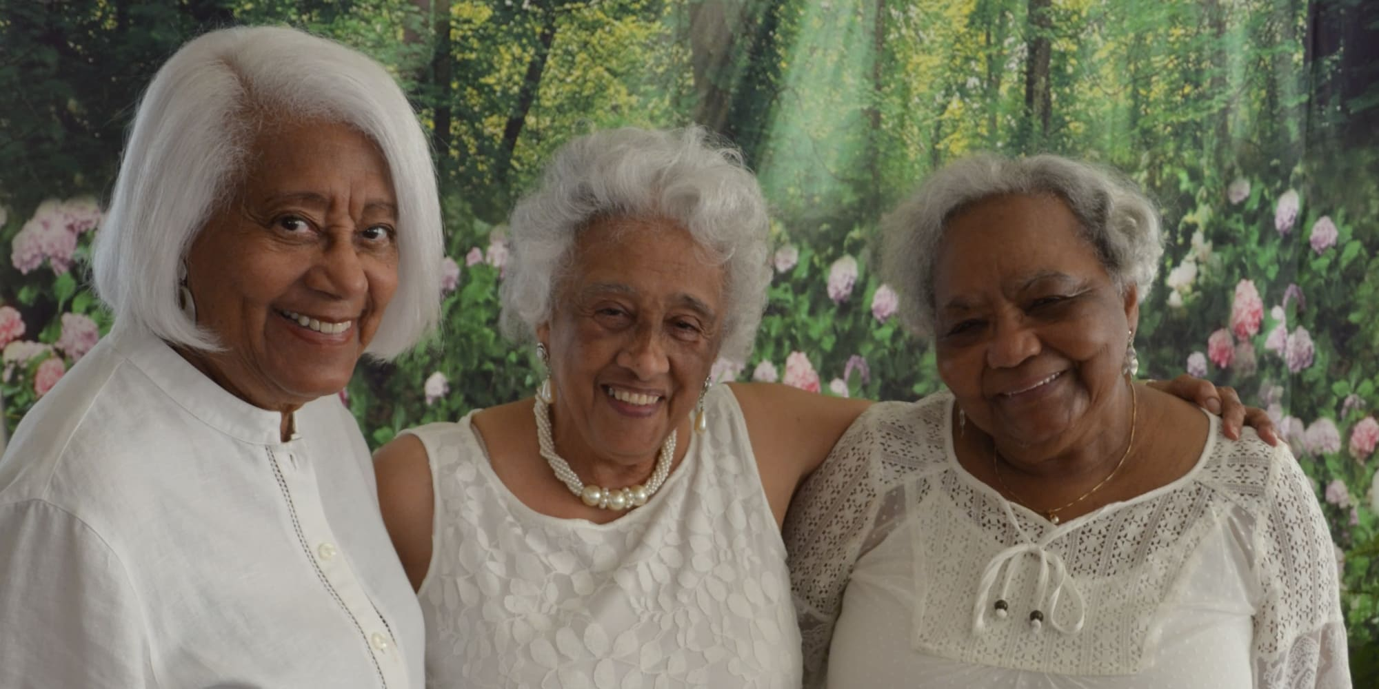 Three residents at Wilshire Estates Gracious Retirement Living in Silver Spring, Maryland