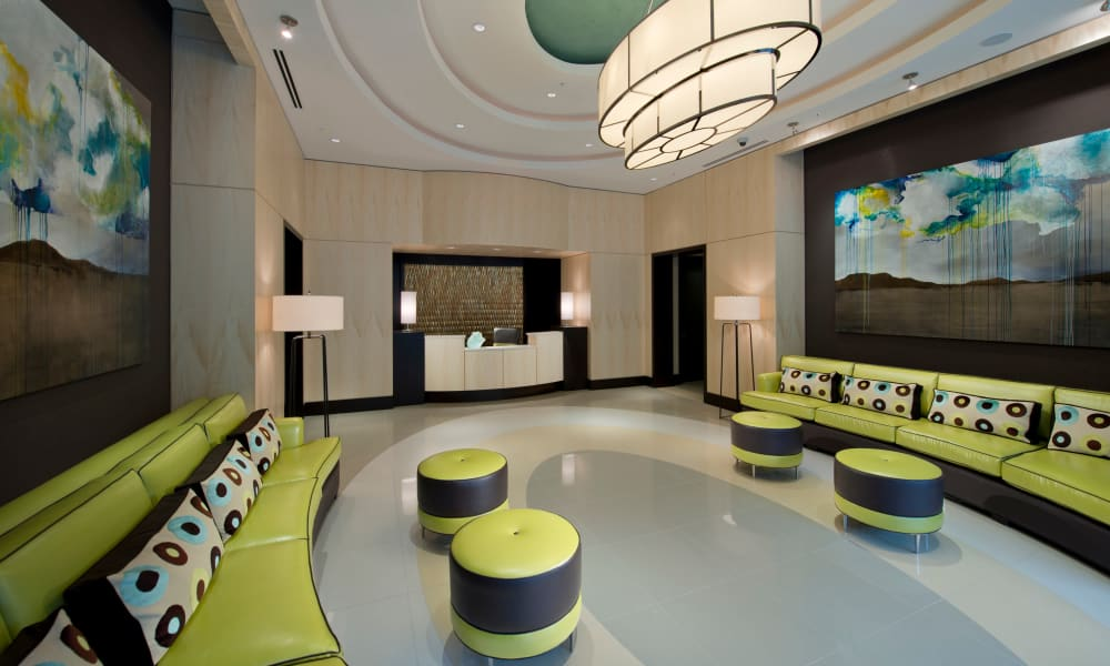 Modern-looking concierge service at Solaire 1150 Ripley in Silver Spring, Maryland