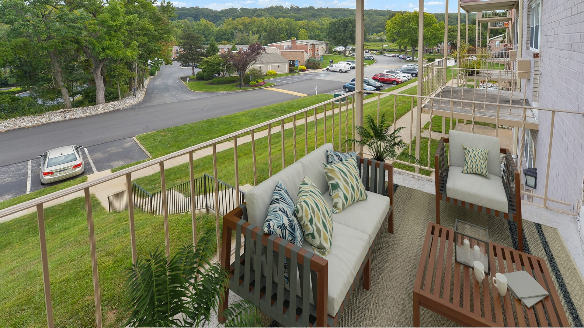 Private Balcony at Apartments in King of Prussia, Pennsylvania