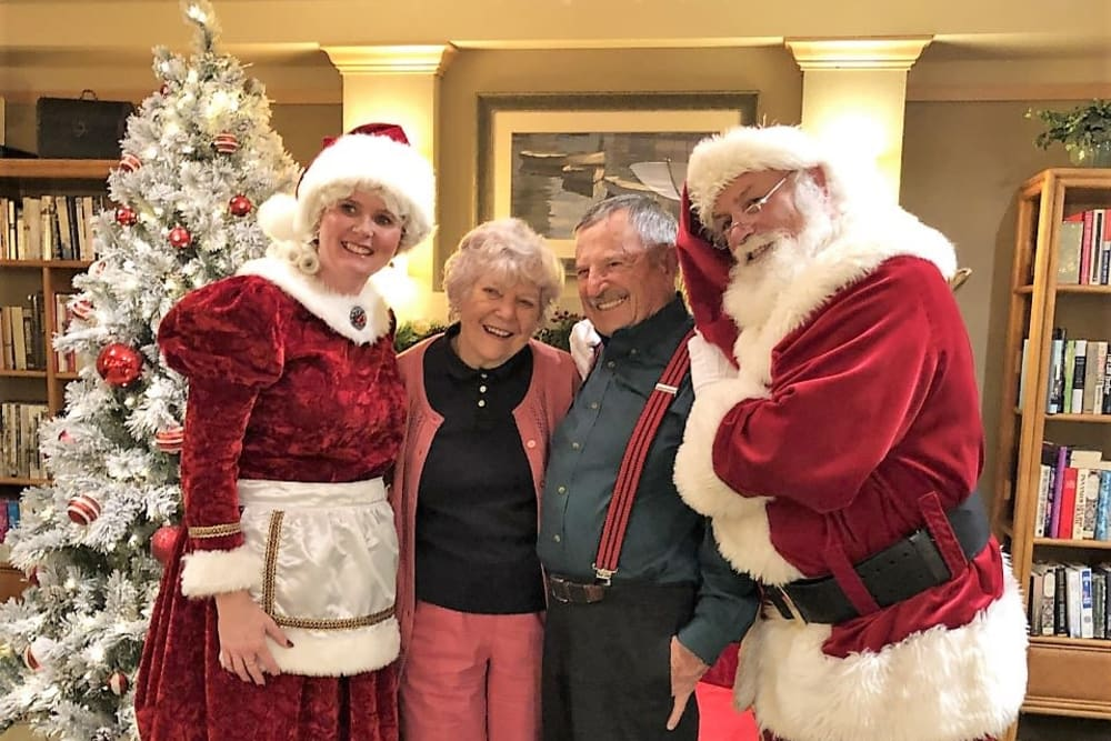 Christmas visit from Santa at our community in Bankers Hill, CA