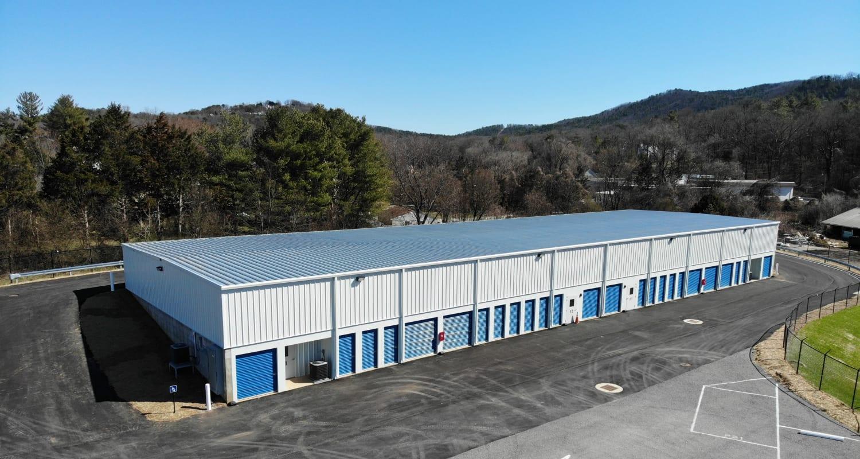 Aerial photo of storage facilities at Virginia Varsity Storage in Roanoke, Virginia