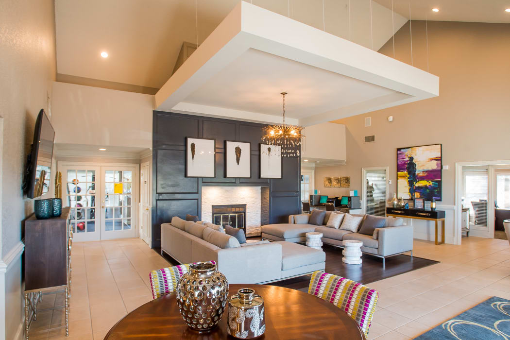 Spacious clubhouse at Cedar Glade Apartments in Tulsa, Oklahoma