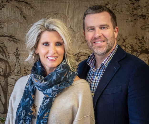 Dustin Fields, CEO/President of Fields Senior Living, with his wife, Melissa Fields, Principle Designer