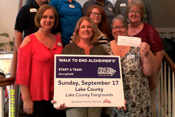 Portage Raises money for ALZ Walk at Discovery Senior Living in Bonita Springs, Florida