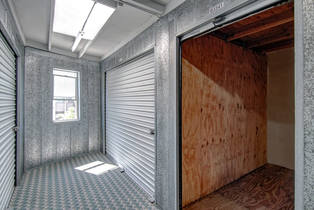 Large storage units at Sorrento Valley Self Storage in San Diego, CA