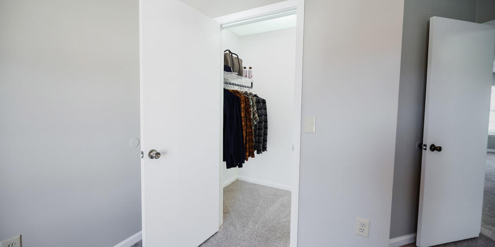 Spacious Closet at Parkway Station Apartment Homes in Concord, North Carolina
