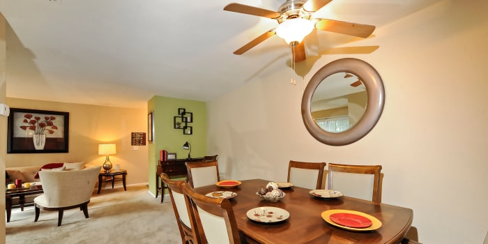 Cedar Gardens and Towers Apartments & Townhomes offers a spacious living room in Windsor Mill, MD