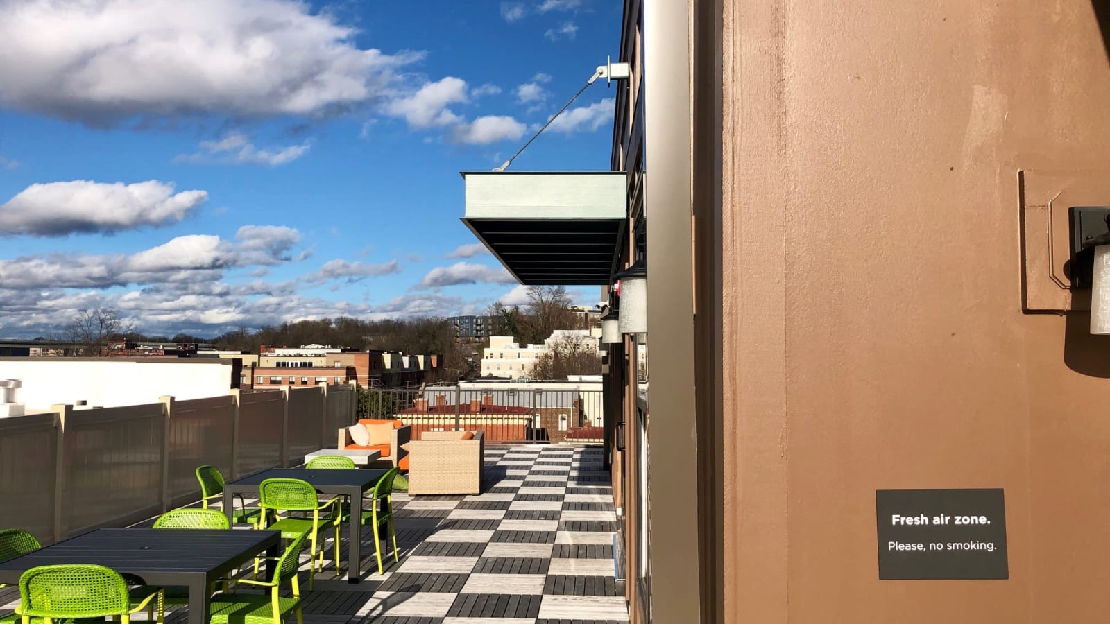 Rooftop Lounge at The Edge | Apartments in Richmond, VA