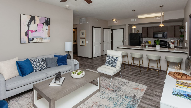 Open concept floor plans at Autumn Ridge in Waukee, Iowa