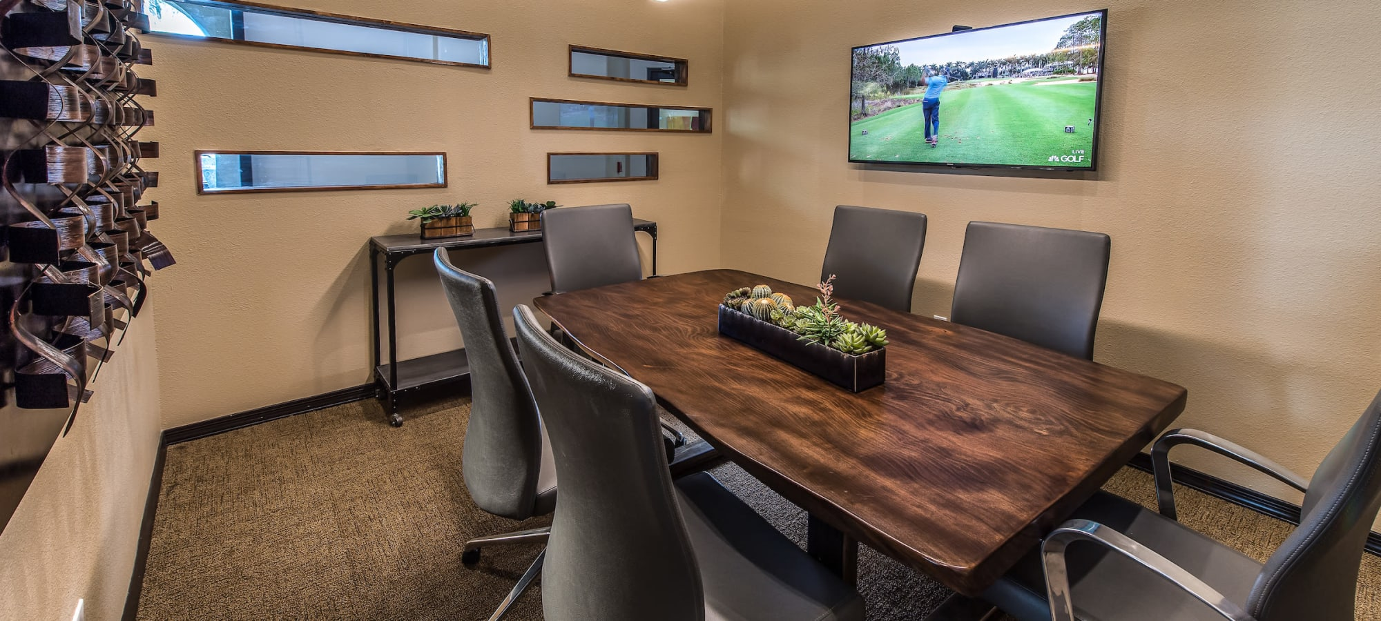 Meeting room for resident use in the clubhouse at Stone Oaks in Chandler, Arizona