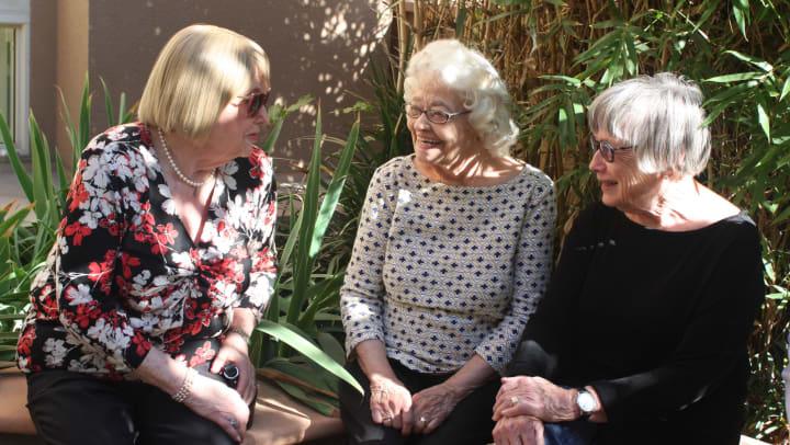 Seniors socializing at Regency Senior Living