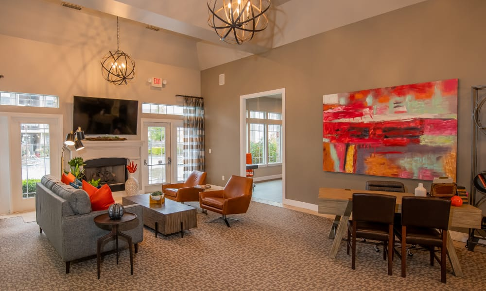 Clubhouse lobby at Colonies at Hillside in Amarillo, Texas