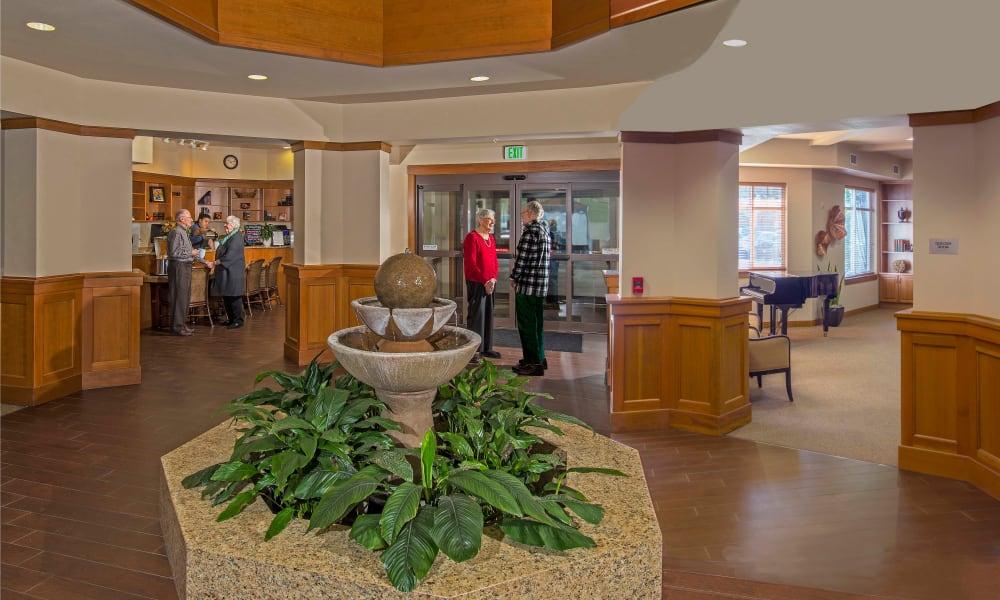 Foyer and reception at Quail Park at Browns Point in Tacoma, Washington