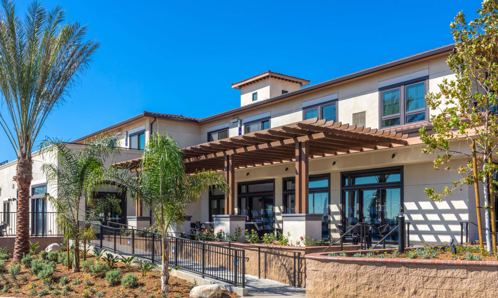 Additional view of the front entrance at Merrill Gardens ar Rancho Cucamonga