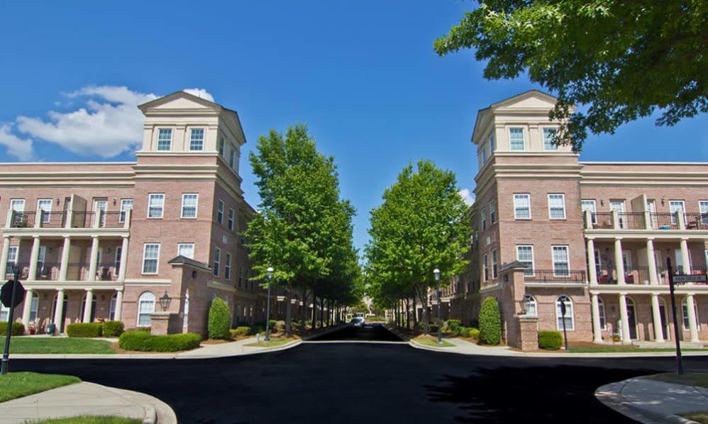 Exterior of apartments at Atkins Circle in Charlotte NC