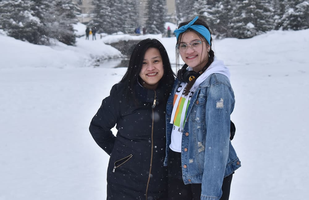 My daughter and I are very close, and we love spending time together. This picture was taken on a recent trip to Banff.