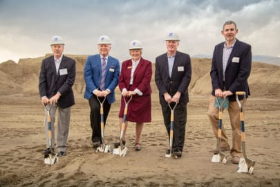 Groundbreaking ceremony at Avenida Palm Desert senior living apartments in Palm Desert, California in March 2019