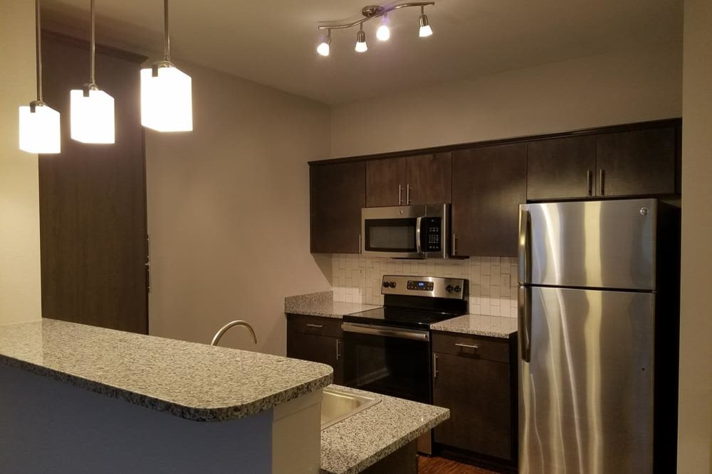 Enjoy our modern kitchen at Park Rowe Village at Perkins Rowe in Baton Rouge, Park Rowe Village at Perkins Rowe