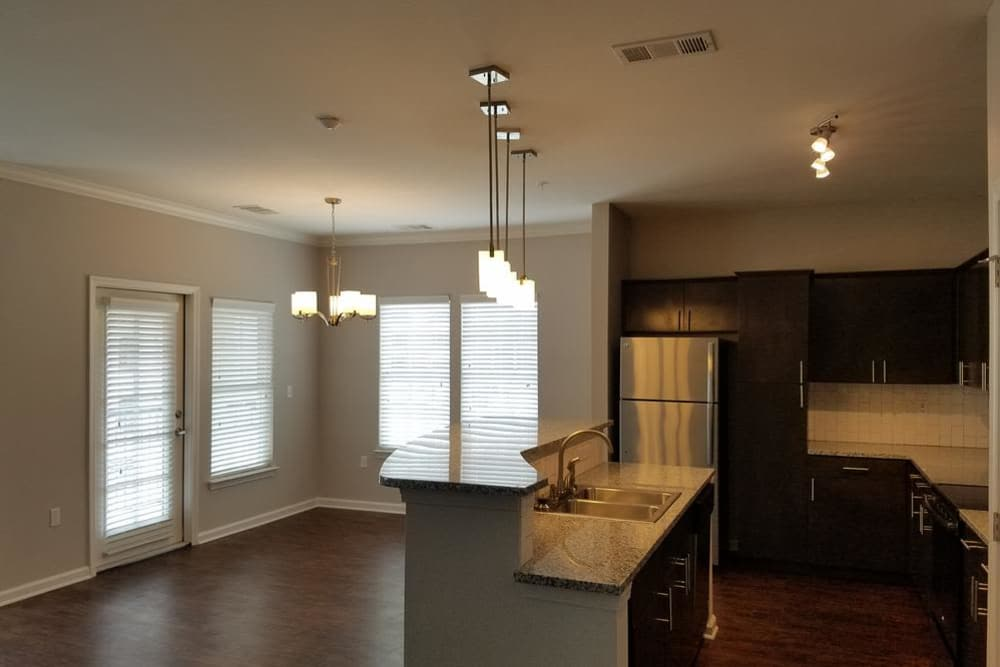 Our apartments in Baton Rouge, Louisiana showcase a renovated kitchen