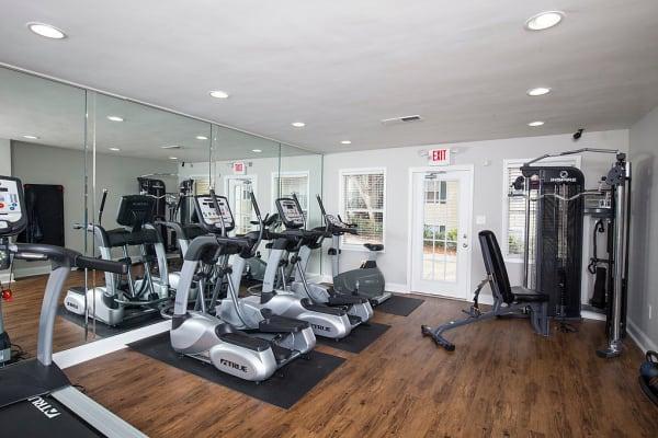 Beautiful fitness center at The Greens at Cascade in Atlanta, Georgia