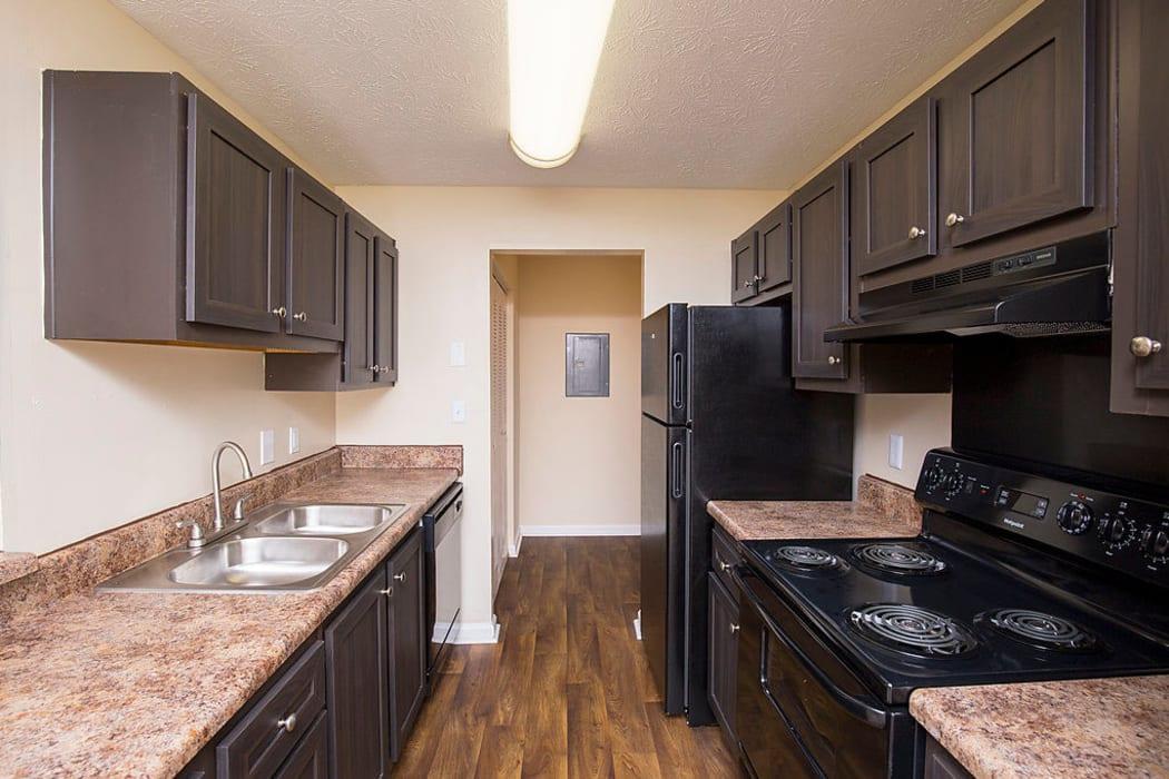 Bright kitchen at The Greens at Cascade in Atlanta, Georgia
