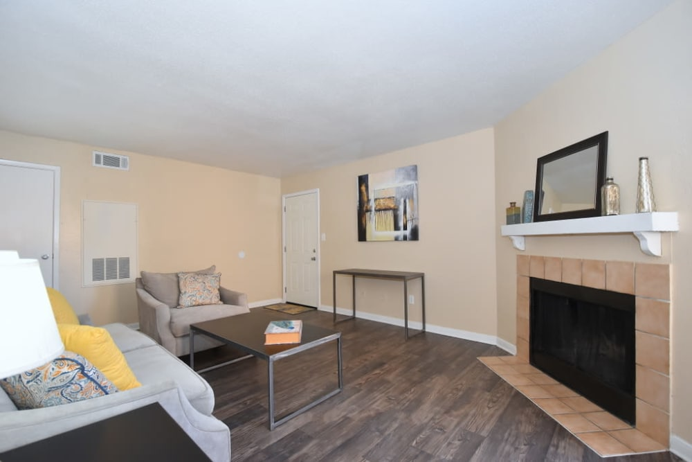 Enjoy apartments with a spacious living room at Green Meadows Apartments