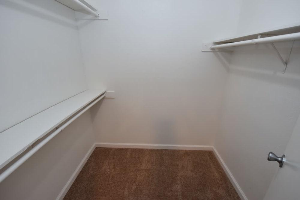Green Meadows Apartments has walk-in closets
