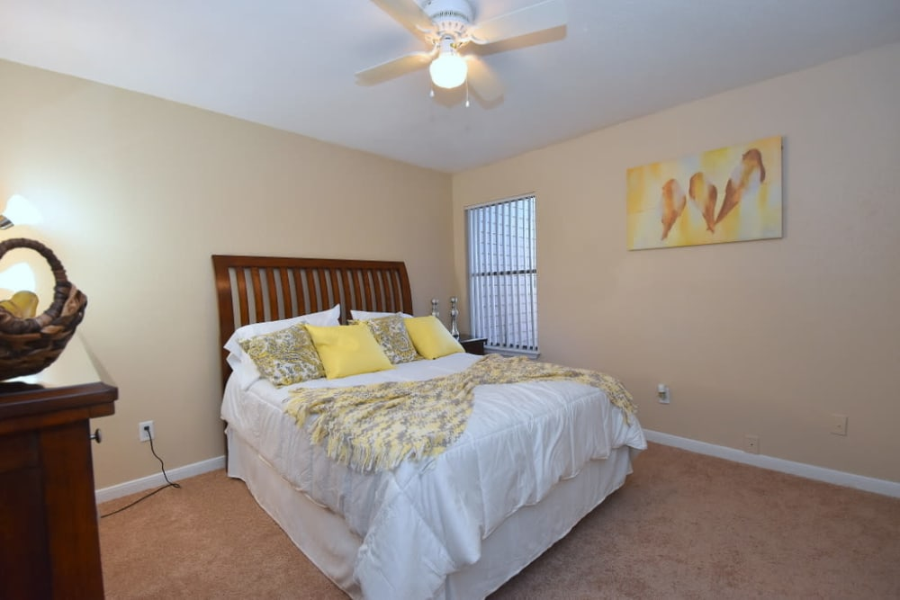 Beautiful bedroom at Green Meadows Apartments