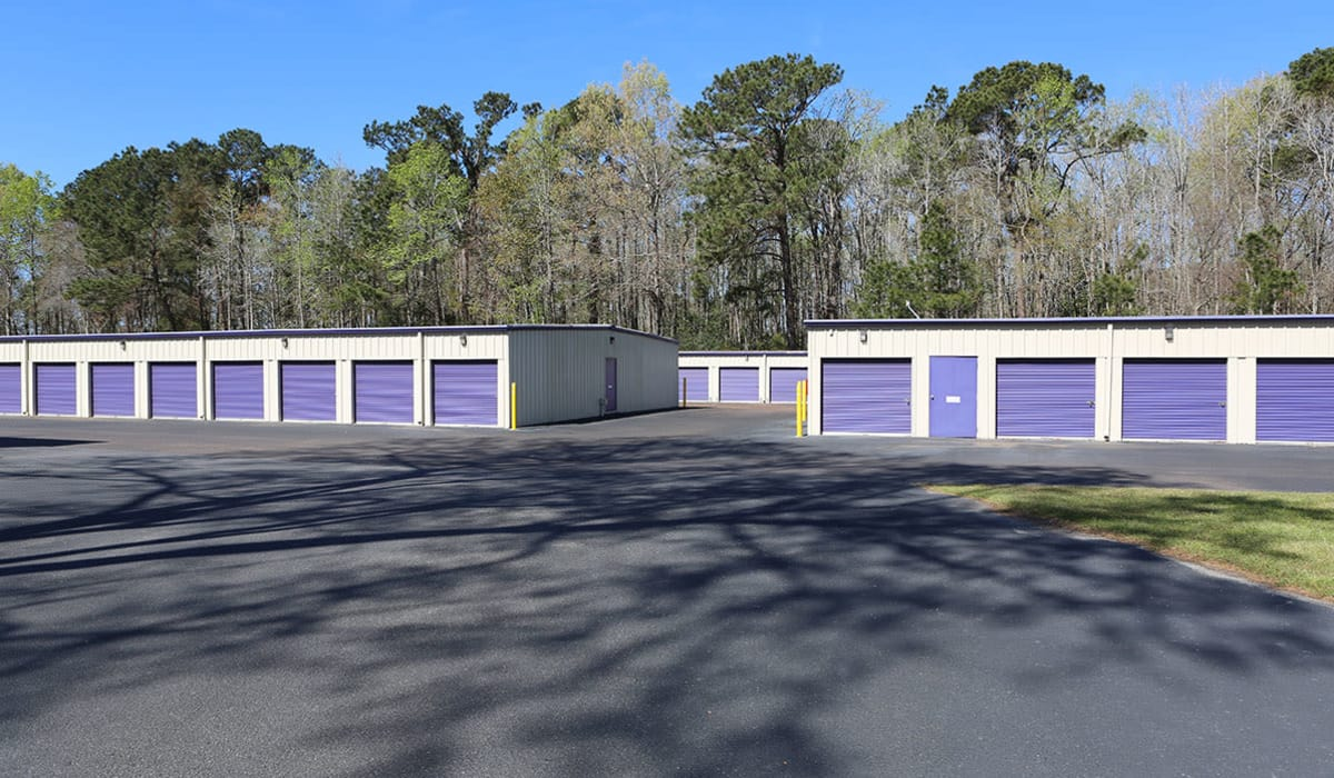 Drive-up storage units at StoreSmart Self-Storage in Charleston, South Carolina