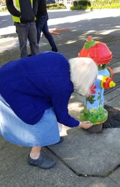 Merrill Gardens at Renton Centre adopts a hydrant