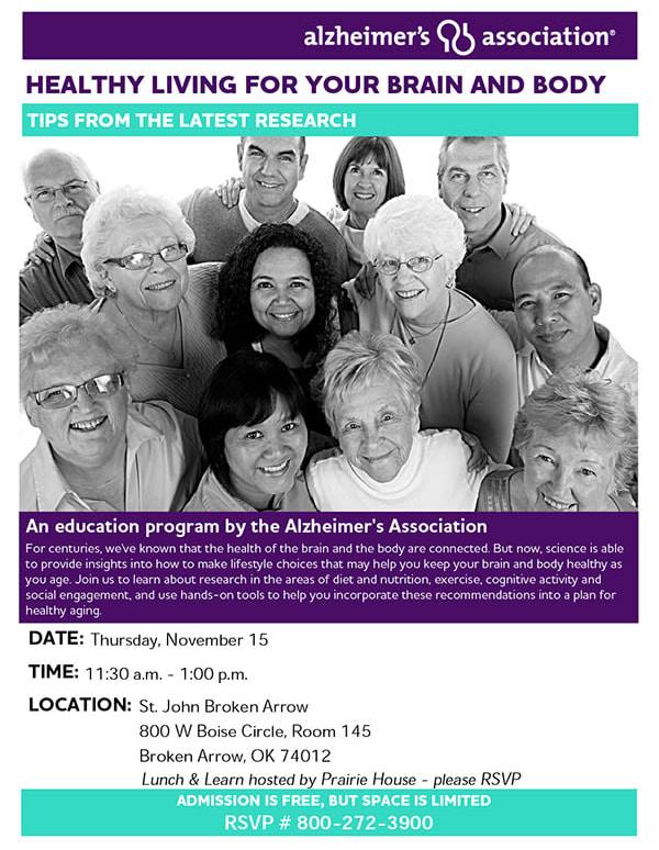 Alzheimer's Association education program hosted by Prairie House