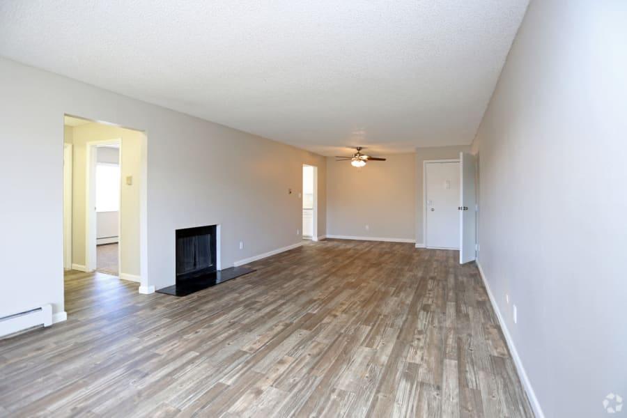 Living room at 3300 Tamarac in Denver