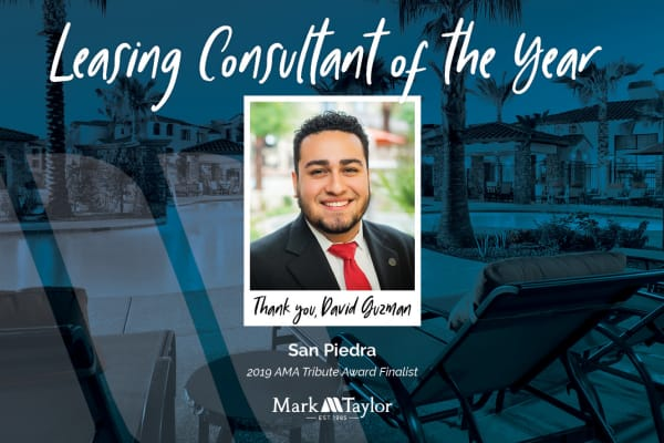 San Piedra Leasing Consultant of the year in Mesa, Arizona