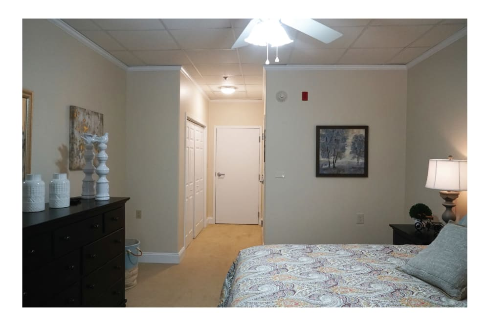 additional view of senior resident bedroom