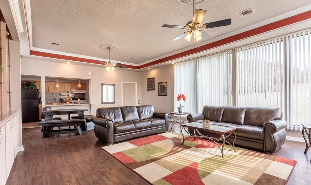 Clubhouse interior at Steeplechase Apartments in Camillus, New York