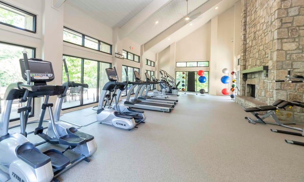 Fitness center of The Halsten in Atlanta, Georgia