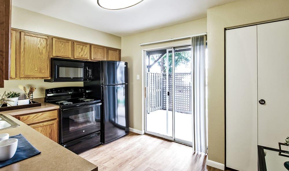 Kitchen view at Broadmoor Ridge Apartment Homes in Colorado Springs, Colorado