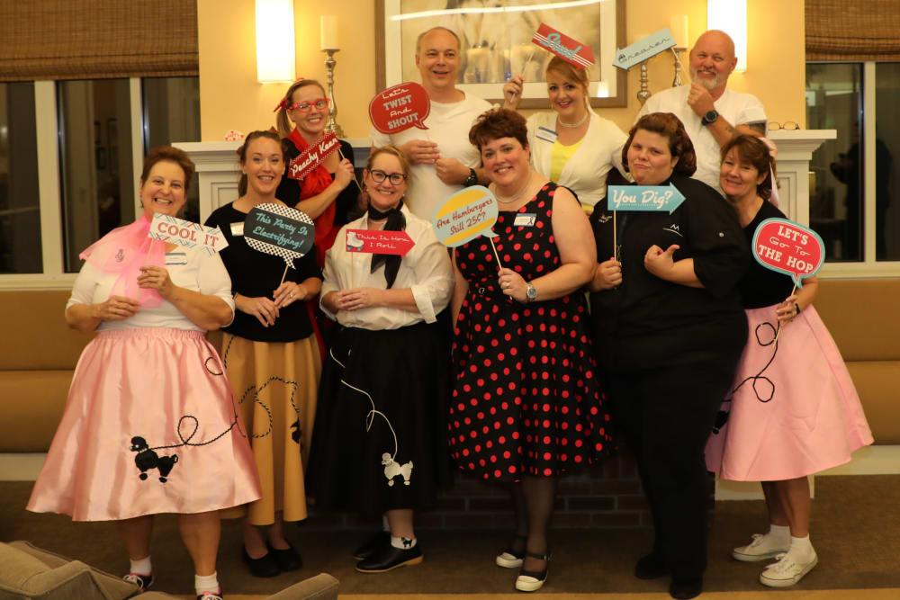 The Madison team at the Sock Hop Anniversary Party
