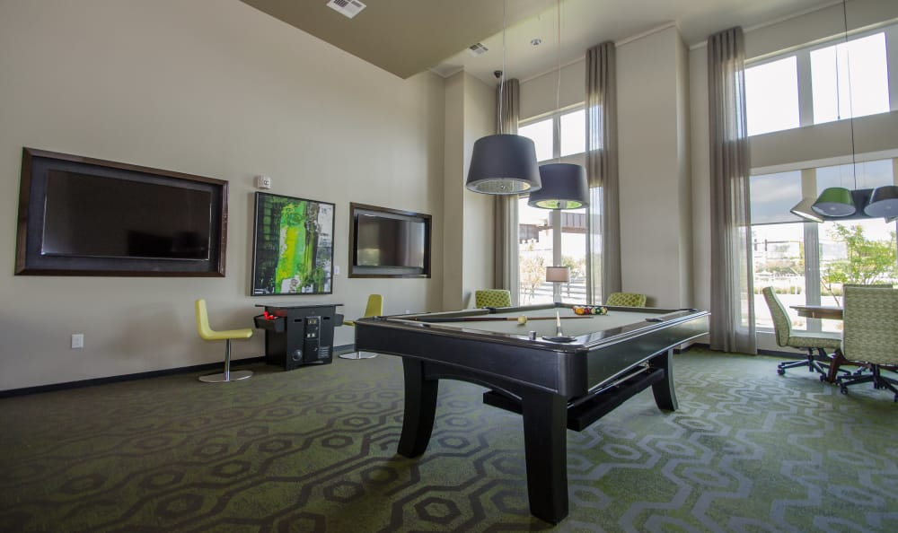 pool table at GreenVue Apartments