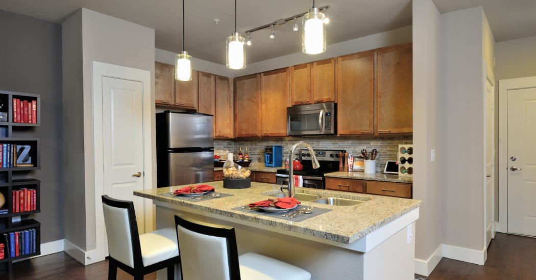 Modern, luxurious kitchen in one of Southstar Management I, LLC's luxury apartment homes