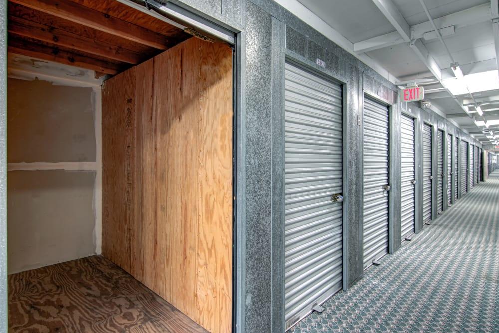 Interior storage units at Sorrento Valley Self Storage in San Diego, CA