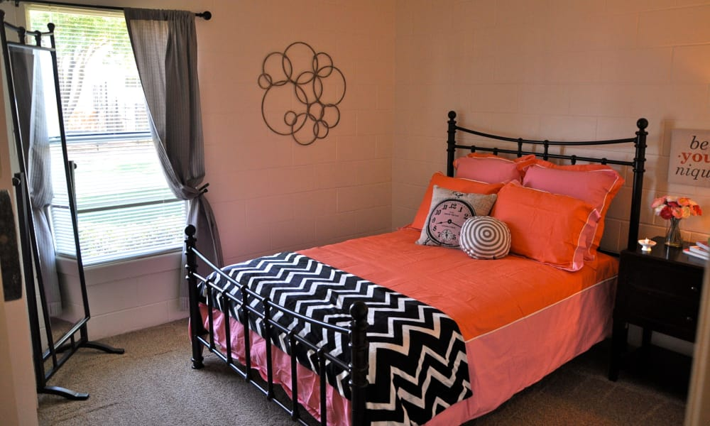 Luxury bedroom at The Phoenix Apartments in El Paso, Texas