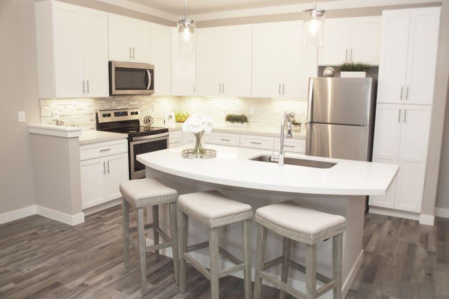 Spacious living area at Allure Apartments in Centerville, Ohio